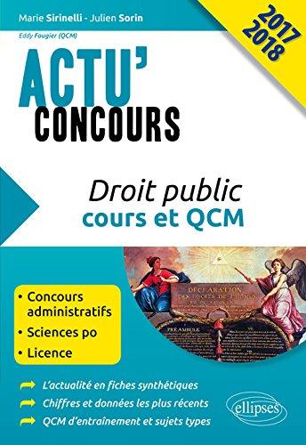 Droit Public Cours et QCM Actu'Concours 2017 2018
