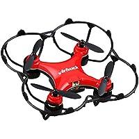 Virhuck GB202 Mini Pocket Quadcopter Drone,2,4 GHz,6 AXIS GYRO,Modo de 3 Velocidades,Rotación 3D,Drone Eversion de 360-grados Quad Drone Mini Drone para Niños y Principiantes Navidad presentes- Rojo