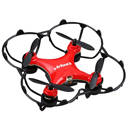 Virhuck GB202 Mini Pocket Quadcopter Drone, 2,4 GHz, 6 AXIS GYRO, 3 Speed Mode, 3D Rotation, 360 Grad Eversion Quad Drone Mini Drhne für Kind und Anfänger - Rot