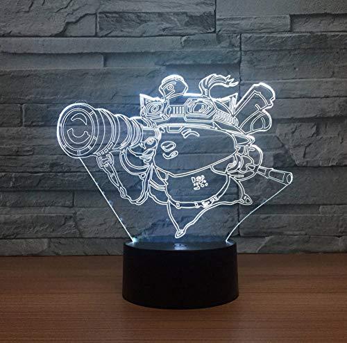 Lampe Visuelles Licht Kreative Touch Desktop Lampen 7 Farben Ändern Atmosphäre Lampe Acryl 3D LED Lampe ()
