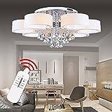 Hengda® LED Deckenlampe Kristall Deckenleuchte Lampe Leuchte Kronleuchter Leuchter Pro Einstellbar Modern (49W,7 Flammig)