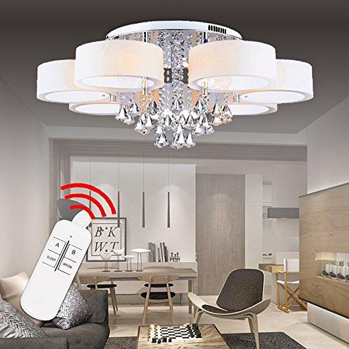 Hengda® LED Deckenlampe Kristall Deckenleuchte Lampe Leuchte Kronleuchter Leuchter Pro Einstellbar Modern (49W,7 Flammig) (Kronleuchter Leuchten)