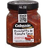Conservas Cabezn Frasco de Bruschetta de Tomate Seco - 140 gr - [Pack de 12]