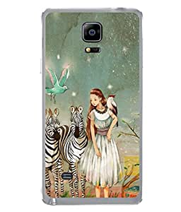 PrintVisa Artistic Girl High Gloss Designer Back Case Cover for Samsung Galaxy Note Edge :: Samsung Galaxy Note Edge N915Fy N915A N915T N915K/N915L/N915S N915G N915D