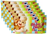 OM Baby Bath Wipes-480 Pcs (Pack Of 6)