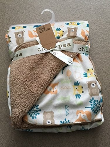 chick-pea-baby-woodland-animals-soft-mink-printed-blanket-with-sherpa-backing-by-chick-pea