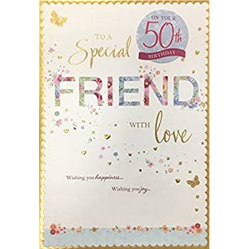 Friend Female Birthday Card With Special Milestone Ages 50TH 60TH 70TH 80TH Wishing You A Fabulous