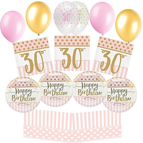 Pink Chic Alles Gute Zum 30. Geburtstag Wesentliche Party Pack (8 Personen)