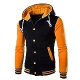 VEMOW Herren Casual Mantel, Herren Jacke Outwear Pullover Winter Schlank Hoodie Warm Casaul Tägliche Sport Workout Kapuzenpulli(Gelb, EU-54/CN-4XL)