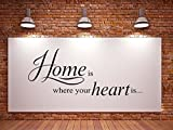 Klebeheld® Wandtattoo Home is Where Your Heart is No.1