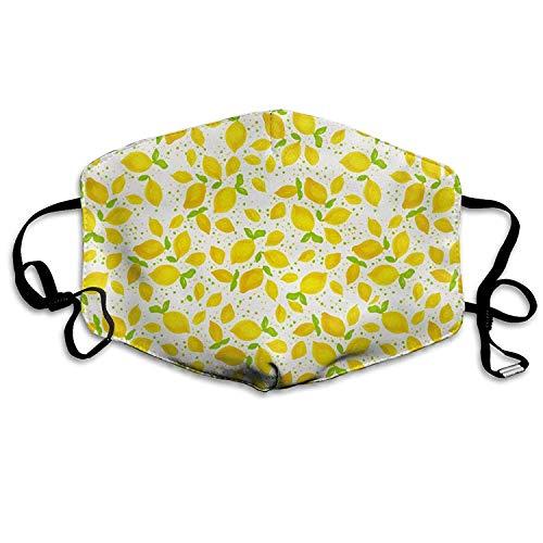 Zitrone Wiederverwendbare Anti-Staub-Gesichtsmaske, staubdichte, atmungsaktive Außenmaske aus Polyester -