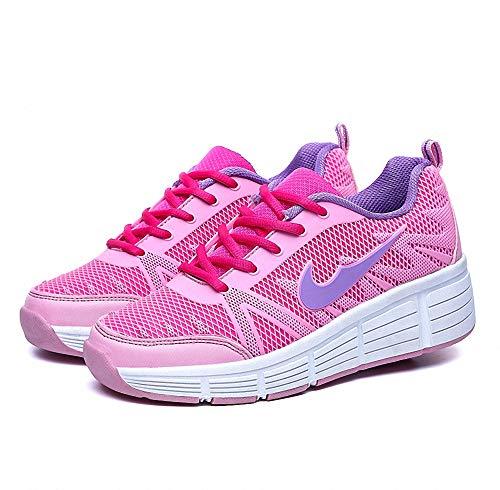 Miarui Sneakers mit Rollen Mädchen Junge Mode Rollenschuhe Unisex Skateboard Schuhe Rollen Schuhe Sportschuhe Laufschuhe mit Automatisch Verstellbares Räder Geeignet für Erwachsene und Kinder,2,41