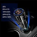 ZYX 30W Auto USB Ladegerät Quick Charge 3.0 2.0 Handy Ladegerät 2 Port USB Fast Car Charger Für iPhone Samsung Tablet Auto-Ladegerät,Black
