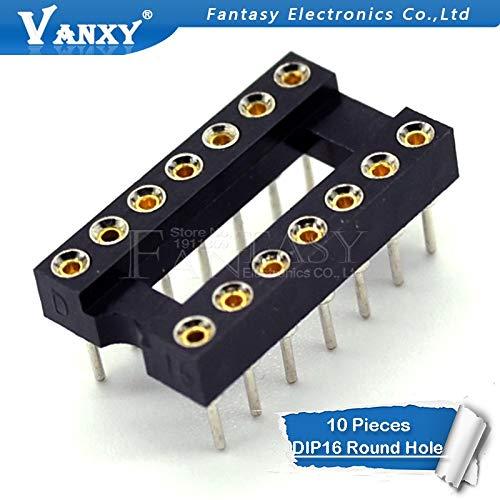 10 stücke DIP-16 Runden Loch 16 Pins 2,54 MM DIP 2,54 DIP16 IC Sockel Adapter Solder Typ 16 PIN IC Stecker Dip-solder
