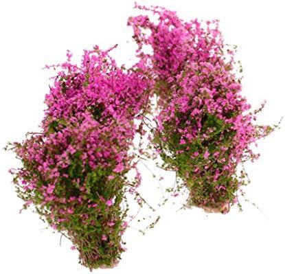 4pcs Paysage Modèle Sol Couvert De Fleurs Modèle Fuchsia   Online Shop