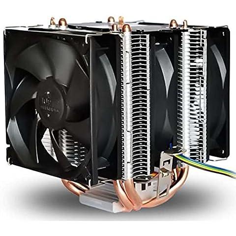 CPU disipador de calor de cobre 4 de calor de tubos 1150 1155 AMD PWM Xagoo inteligente del ventilador (Estilo 1)