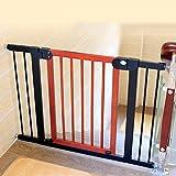 Türschutzgitter Indoor Holz Baby Tore Tür Für Treppen Tür Druck Angebracht Extra Breite Hund/Katze/Pet Tür 76-153 cm Breit (Größe : 146-153cm)
