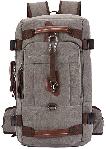 "Canvas Rucksack, Aidonger Vintage Schulrucksack Reise Rucksack 15\"" Laptop Rucksack Daypacks (Grau-58)"