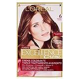 L'Oréal Paris Excellence Crema Colorante Triplo Trattamento Avanzato, 6 Biondo Scuro
