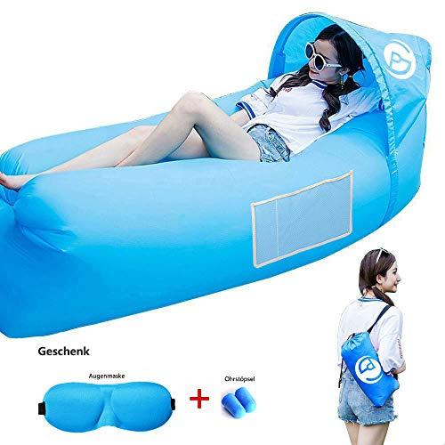 Air Sofa, Aufblasbarer Lounger wasserdichtes tragbares aufblasbares Sofa/Bett/kampierender Strand-und Gartenfreizeitschlafsack-kampierender Outdoor für Camping Wander, Schwimmbad- und Strandparties