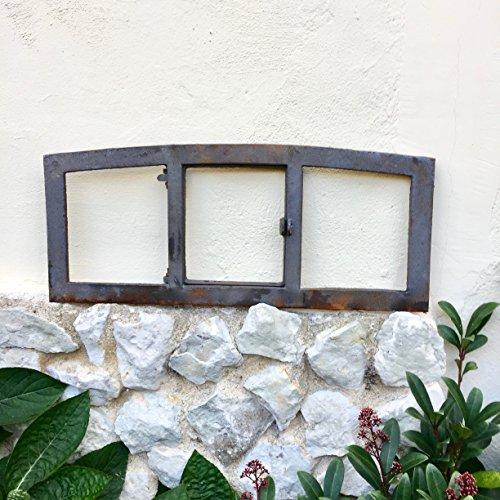 Antikas - Langes schmales Scheunenfenster mit Klappe - Eisenfenster Klapp Fenster Antik