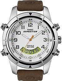 Timex Expedition Herren-Armbanduhr XL  Metal Combo Analog - Digital Leder T49828