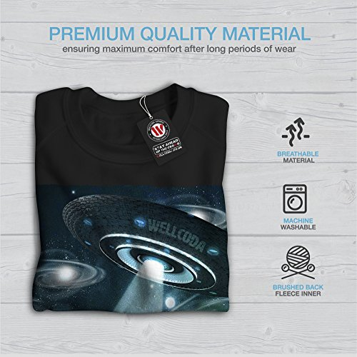 OVNI Maki Extraterrestre Wellcoda Femme S-2XL Sweat-shirt | Wellcoda Noir