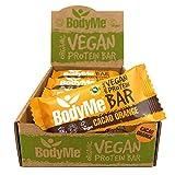 BodyMe Barrette Proteiche Vegane Biologiche | Crudo Cacao Arancia | 12 x 60g | Con 3 Proteines Vegetali