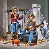 "Halloween 3ft 3"" (99 cm) Pair of Animated Banjo Skeletons"