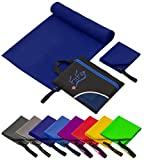 Fit-Flip Set: 70x140cm + 30x50cm + Tasche/dunkel Blau