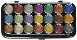 Yasutomo, perlmuttern schimmerndes Aquarellfarben-Set, 21 verschieden Farben