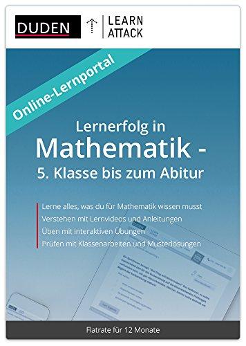 Duden Learnattack - Lernerfolg in Mathematik - 5. Klasse bis zum Abitur (12 Monate Flatrate)