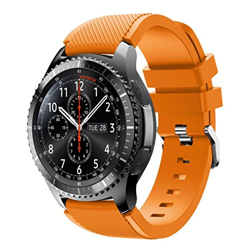 OVERDOSE Samsung Gear S3 Frontier Armband, Sport Silikon Armband Armband für Samsung Gear S3 Frontier (Orange)