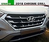 #5: STARiD 4-Piece Chrome Grill OE Type Centre Front Strips for Hyundai Creta 2018