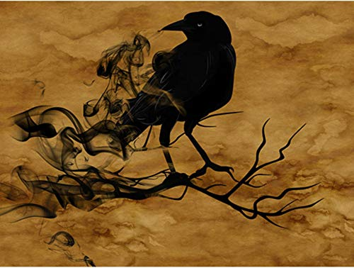HHZDH 5D DIY Diamant Malerei Vogel Stickerei Halloween Diamant Mosaik Sets Bild Von Strass Wohnzimmer Hintergrund Wand Dekoration 40X50 cm