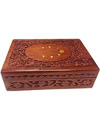 Regalo de la acción de gracias para sus seres queridos Caja de madera caja de joyería