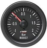 Simoni Racing Spa BV/B Jauge Pression de Suralimentation Mécanique avec capteur, Noir