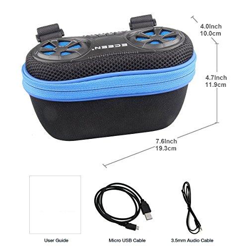 ECEEN altoparlante Bluetooth, amplificata Audio Stereo con funzione mani-libere per telefono e batteria ricaricabile per tutti gli iPhone, iPod, smartphone e lettori MP3 e dispositivi Android Blue for Bike