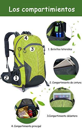facecozy Outdoor Herren & Frauen Sport Rucksack Leicht Wasserdicht Camping & Wandern Tasche groß Kapazität atmungsaktiv Farbe Rucksack Blau