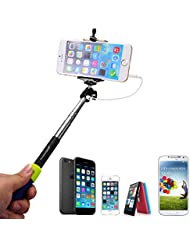 XCSOURCE® Selfie Stick Selfie bâton Câble Auto-verrouillage Télescopique Pôle Extensible Professional Autoportrait support de bras Monopod Pole Ajustable pour iPhone 6 5 5S 4S 4 Samsung Galaxy S5 S4 S3 Note 3 2 iPhone Samsung Galaxy Sony et d'autres Android Smartphones XC203