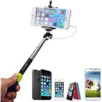 Porpora Selfie Monopiede telescopico con shutter remote button + Phone Clamp Clip Per Apple iPhone 6 Plus/6/5/5C/5S/4S/4, Samsung Galaxy Note 4/3/2, S5/4/3, Blackberry, HTC, Sony, LG XC203