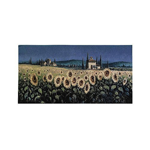 Tapestry Wall Hanging Tuscan Panorama Sunflowers [Kitchen] by Fine Art Tapestries - Fine Art Tapestry Wall Hanging