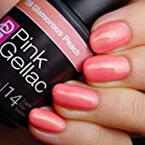 Pink Gellac Gel-Nagellack Shellac, Ibiza Summer Kollektion 15ml UV Nagellack farbiger Nagellack Nagellackfarben (159 Glamorous Peach)
