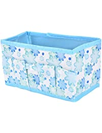 Desk Organizer Foldable Flower Printed Non-Woven Mini Desk Organiser For Makeup Cosmetic Stationery Cell Phone...