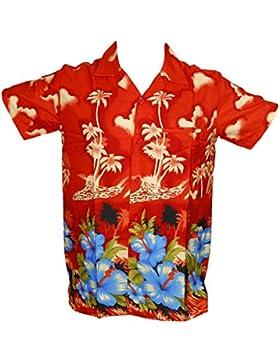 Saitark - Camicia hawaiana da uomo, motivo estivo con palme