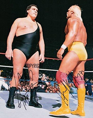 THEPRINTSHOP Andre The Giant wrestling Hulk Hogan fotografia firmato edizione limitata + stampato Autograph