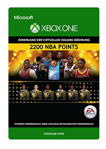 NBA Live 15:  2,200  NBA Points [Xbox One - Download Code]