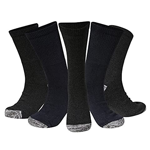Kensington® MEN SAFETY BOOT WORK SOCKS - GENUINELY TOUGH RESILIENT QUALITY, Versatile, Reliable, Personal Protective Equipment, Thick Durable, Functional, Working, Outdoors, Walking, Hiking, Skiing (Black/Navy/Grey)