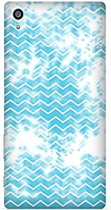 Blue Geometric Print by Angana Printed Back Cover Case For Sony Xperia Z5 Premium