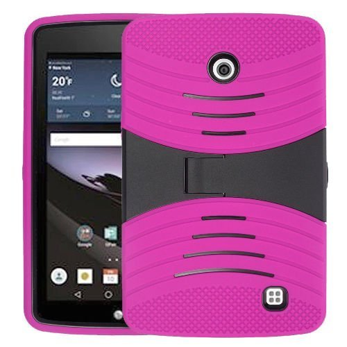 LG G Pad f 17,8cm Zoll Fall, bny-wireless (TM) Rugged High Impact Hybrid Drop Proof Armor Defender Ganzkörper Schutz Fall Cabrio in Eingebaute Ständer für LG G Pad f 17,8cm Zoll LK430-Pink (Duty Lg 7-zoll-tablet-case Heavy)
